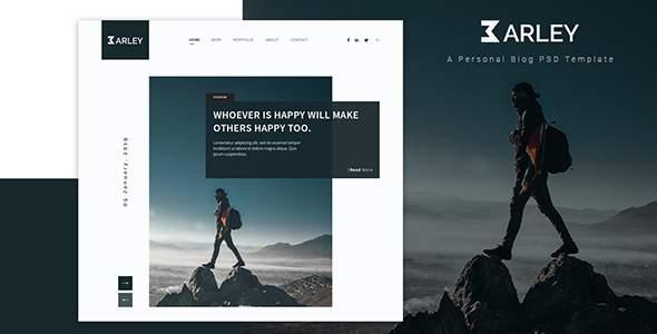 Barley – Ultimate Personal Blog PSD Template        TFx Malcom Gib