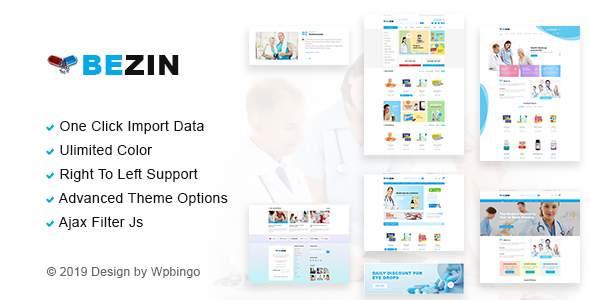 Bezin – Pharmacy & Health WooCommerce Theme        TFx Tim Ray