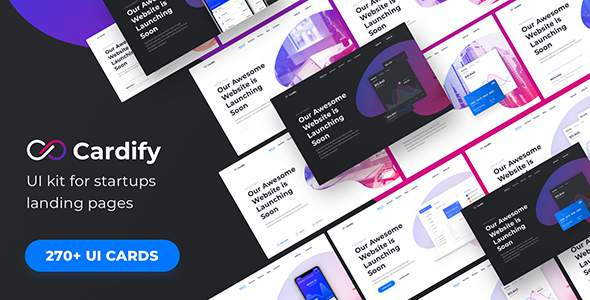 Cardify – Startup UI Kit for Landing Pages        TFx Roswell Leyton