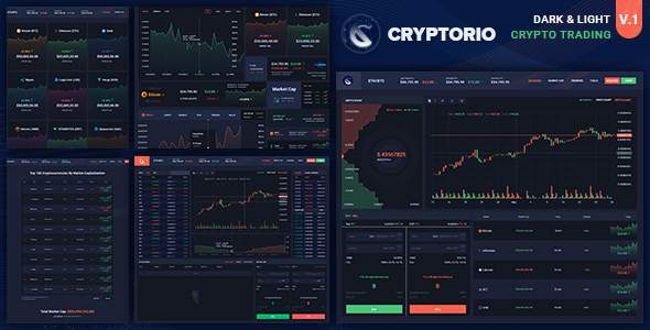 Cryptorio – Cryptocurrency Trading Dashboard HTML Template        TFx Cullen Stacey