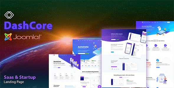 DashCore – SaaS, Startup & Software Joomla Template        TFx Sheldon Adrian
