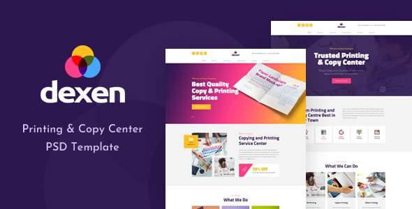 Dexen - Printing and Copy Center PSD Template        TFx Gord Susila