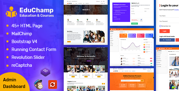 EduChamp – Education HTML Template + Admin Panel        TFx Vance Derryl