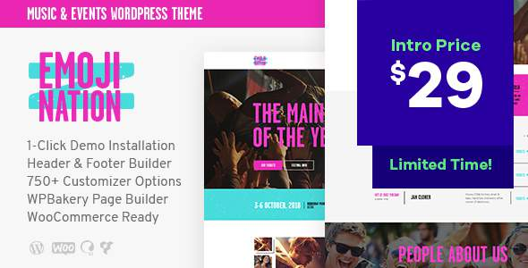 EmojiNation | Night Club & Concert WordPress Theme        TFx Souta Carson