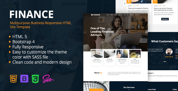Finance - Multipurpose Business Responsive HTML Site Template        TFx Anthony Anson