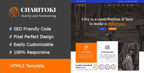 Fundclub - Charity & Nonprofit Fundraising HTML5 Template        TFx Vahan Carlisle