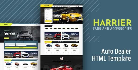 Harrier - Car Dealer HTML Template        TFx Audley Cornelius