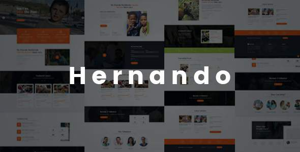 Hernando - Charity NonProfit HTML Template        TFx Clair Cortney