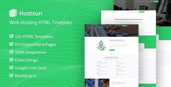 Hostsun - Responsive Hosting, Domain and Technology Template        TFx Myron Octavian
