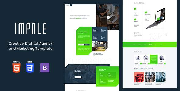 Impale – Digital Agency & Marketing Template        TFx Nanook Sonnie