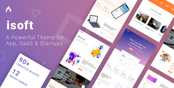 Isoft – Powerful Theme for Saas, App and Startups        TFx Thurstan Quanah