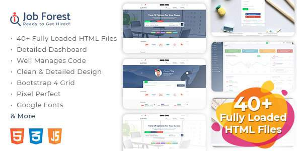 Job Forest - Job Board HTML Template        TFx Lindsay Woodrow