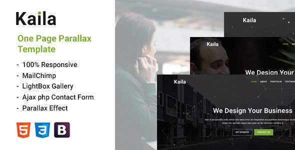 Kaila -  One Page Parallax Template        TFx Seth Bailey