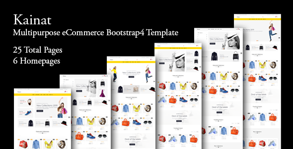 Kainat - Multipurpose eCommerce Bootstrap 4 Template        TFx Quidel Wiley