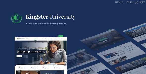 Kingster - Education HTML Template        TFx Korey Adi