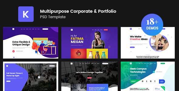 Kreativ - Multipurpose Business Portfolio PSD Template        TFx Odell Marvyn