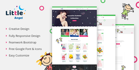LittleAngel - Store eCommerce HTML5 Template        TFx Nuka Rowland