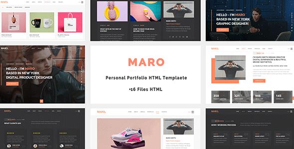 Maro - Personal Portfolio HTML Template        TFx Linton Citlalli