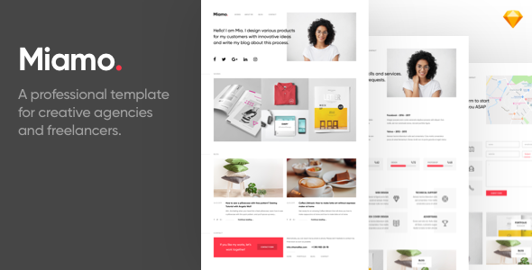 Miamo - A professional template for creative agencies and freelancers        TFx Devin Jools