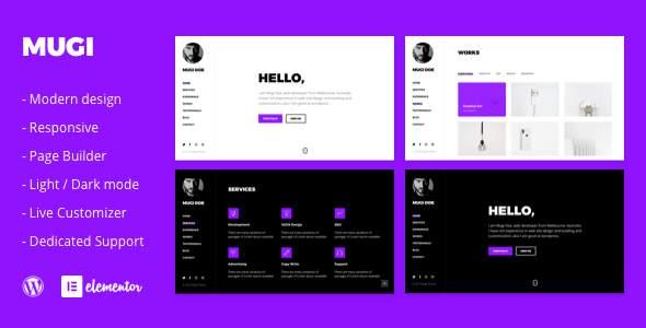 Mugi - Personal Portfolio & Resume WordPress Theme        TFx Branson Lindsay