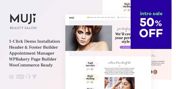 Muji | Beauty Shop & Spa Salon WordPress Theme        TFx Kusuma Judd