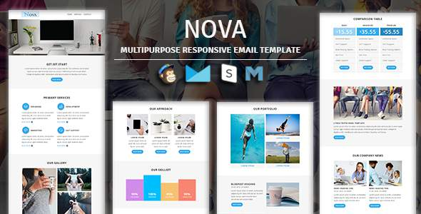 NOVA – Multipurpose Responsive Email Template With Stampready Builder & Mailchimp Access        TFx Charlton Stanley