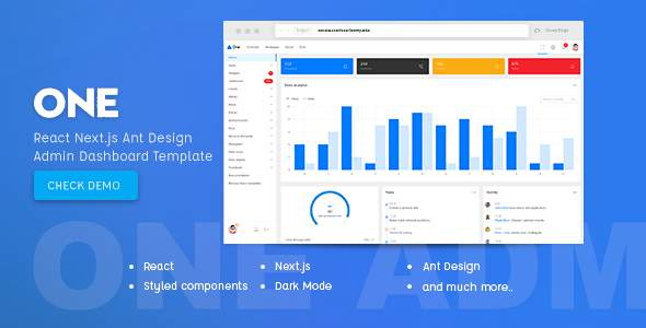 One - React Next.js & Ant Design Admin Template        TFx Bud Iman