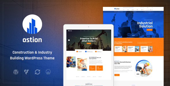 Ostion – Construction & Industry Building Company WordPress Theme        TFx Jadyn Sloan