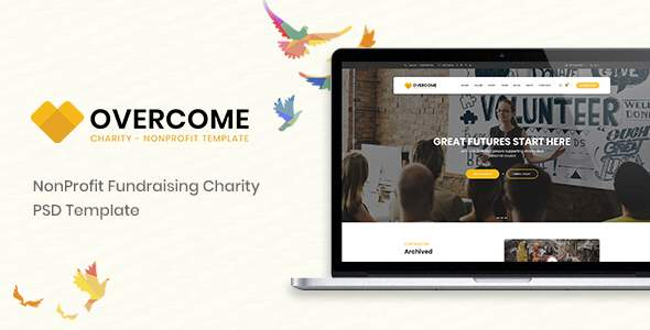 Overcome – Charity Multipurpose Non-profit PSD Template        TFx Benji Caden