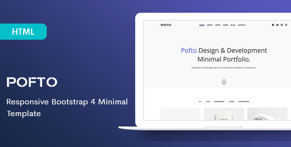 Pofto – Responsive Bootstrap 4 Minimal Template        TFx Bobby Aubrey