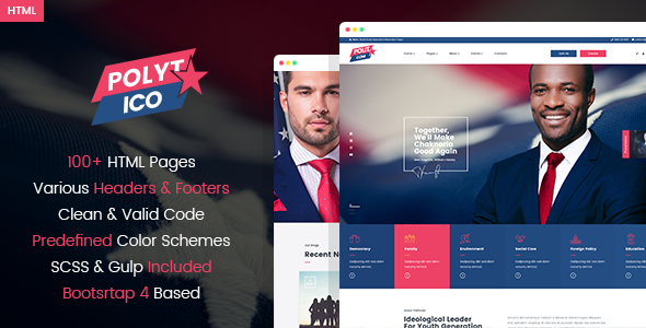Polytico – Multipurpose Political And NGO HTML Template        TFx Otis Irving
