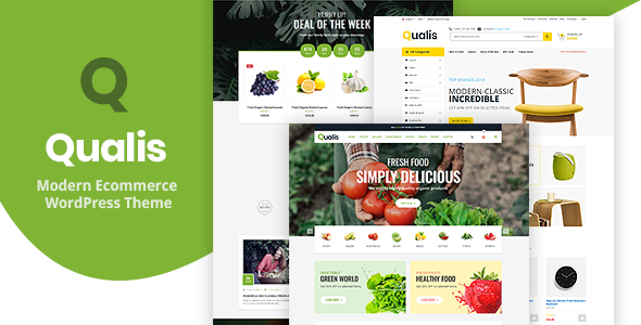 Qualis - Organic Food Responsive eCommerce WordPress Theme        TFx Odell Avag