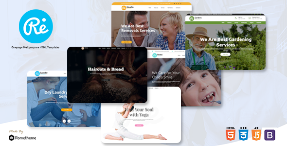 RE - Multi-purpose Responsive HTML Templates        TFx Selby Camron