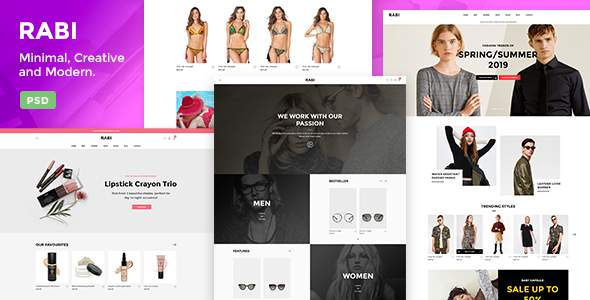 Rabi – Multipurpose Ecommerce PSD Template        TFx Elliot Shirley
