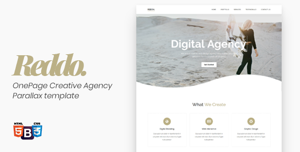 Reddo – OnePage Creative Agency Parallax template        TFx Terrance Wawatam