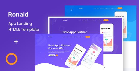 Ronald - App Landing HTML5 Template        TFx Haru Eruqo