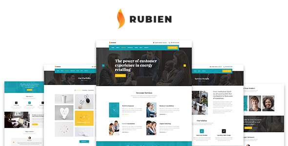 Rubien - Business And Corporate Bootstrap 4 Template        TFx Maddox Jacob