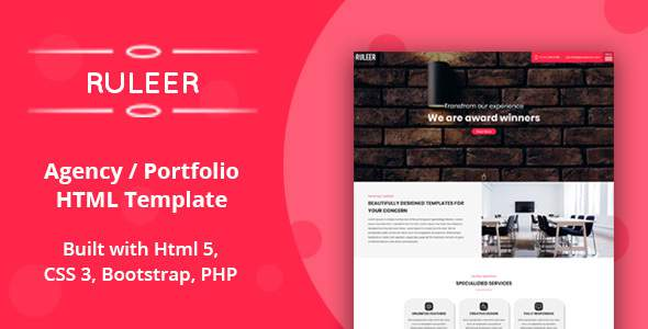 Ruleer - Agency / Portfolio HTML Template        TFx Kade Zhuo