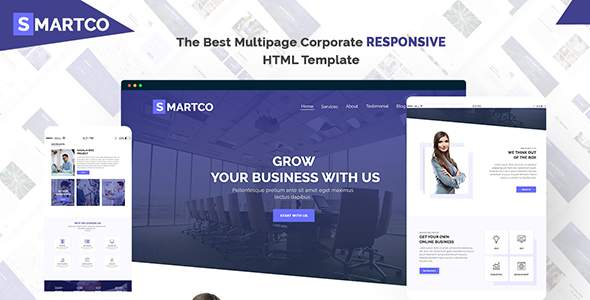 SMARTCO - The Best Multipage Corporate Responsive HTML5 Template        TFx Jerred Wil