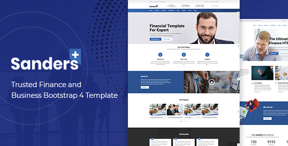 Sanders - Trusted Finance and Business Bootstrap 4 Template        TFx Russell Layne