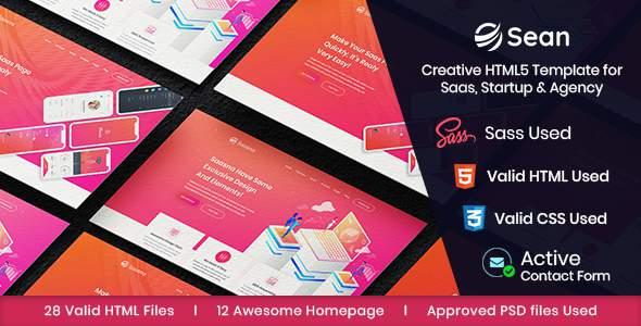 Sean – Saas, Software & App Landing Page HTML Template        TFx Onangwatgo Dirk