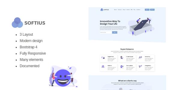 Softius - Software Landing Page        TFx Heath Jameson