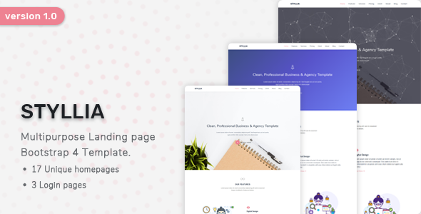 Styllia – Multipurpose Landing page Template        TFx Jarrod Damian