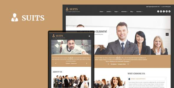 Suits – Responsive Attorneys and Law Firms Joomla Template        TFx Brendon Errol