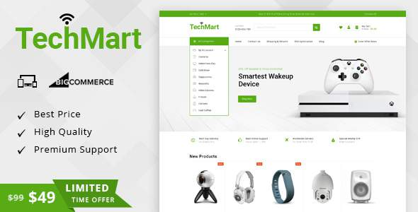 TechMart - Multipurpose Stencil BigCommerce Theme        TFx Sterling Tyson