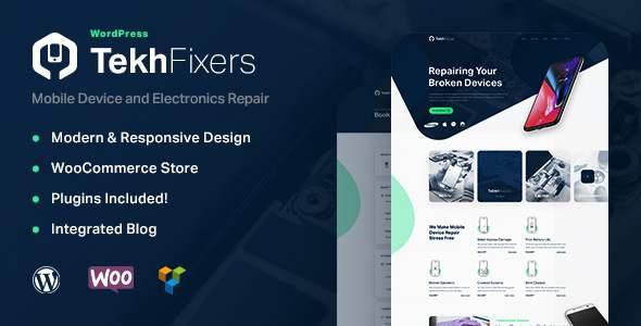 TekhFixers - Mobile Device Repair WordPress Theme        TFx Luke Moacir