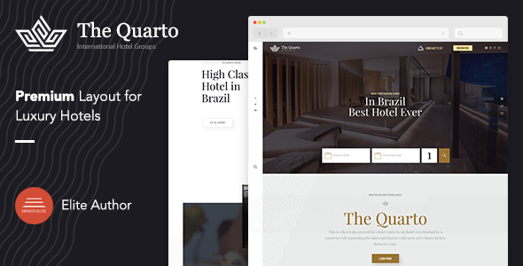 The Quarto - Responsive Modern WordPress Hotel Theme        TFx Tully Dannie