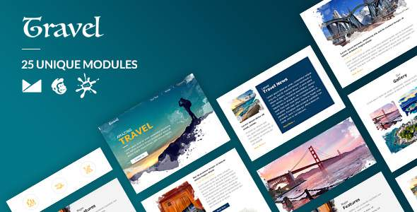 Travel Email-Template + Online Builder        TFx Godfrey Shelby