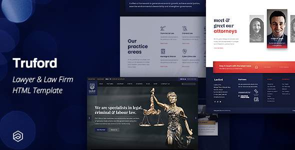 Truford - Lawyer, Law Firm, Attorney Business HTML Template        TFx Mathew Brand
