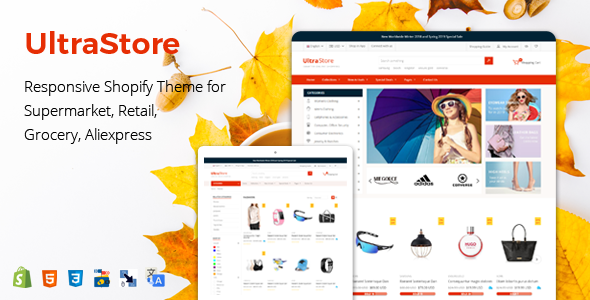 UltraStore – Responsive Shopify Theme for Supermarket, Retail, Grocery, Aliexpress        TFx Isidore Skyler